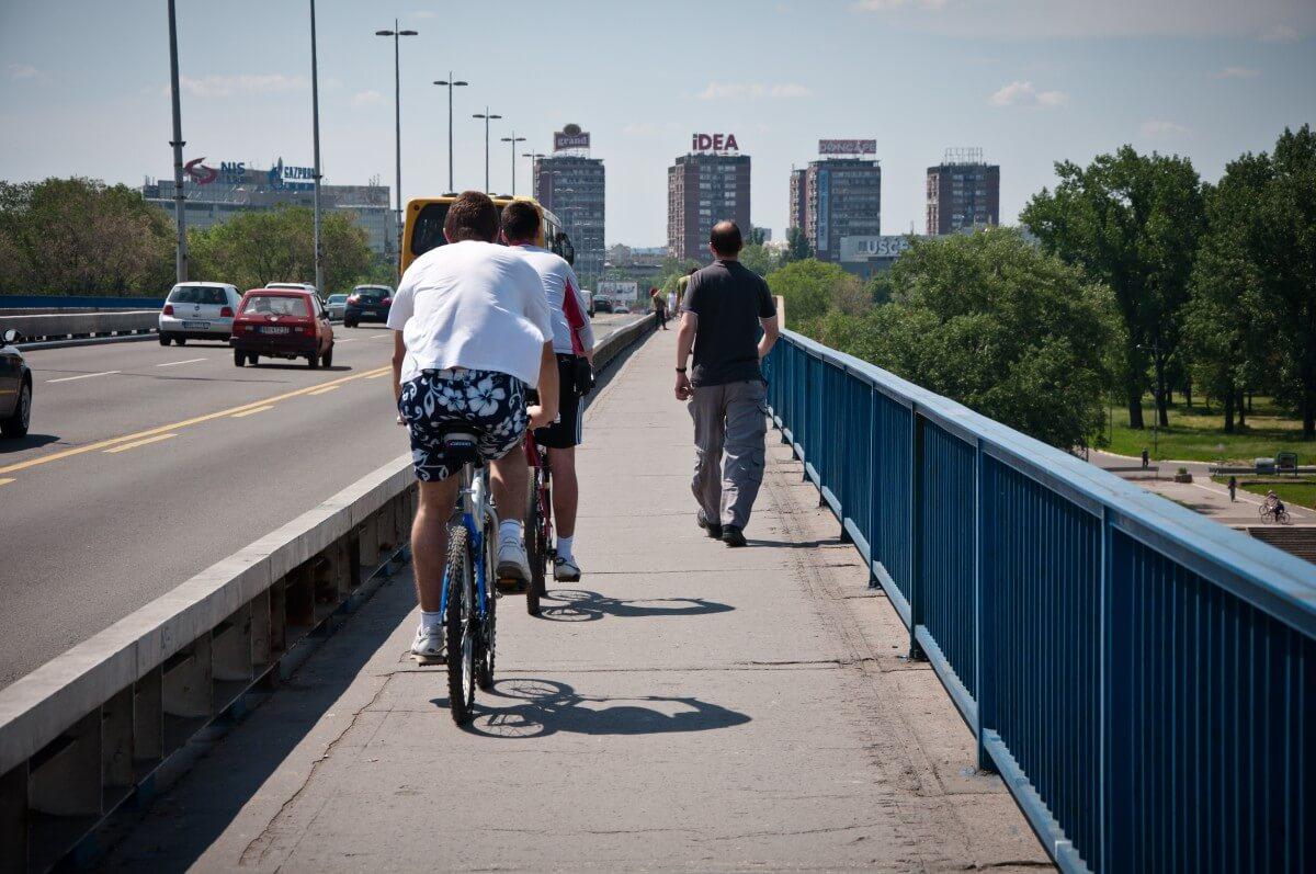 Brankov Bridge Biking and Pedestrian lane