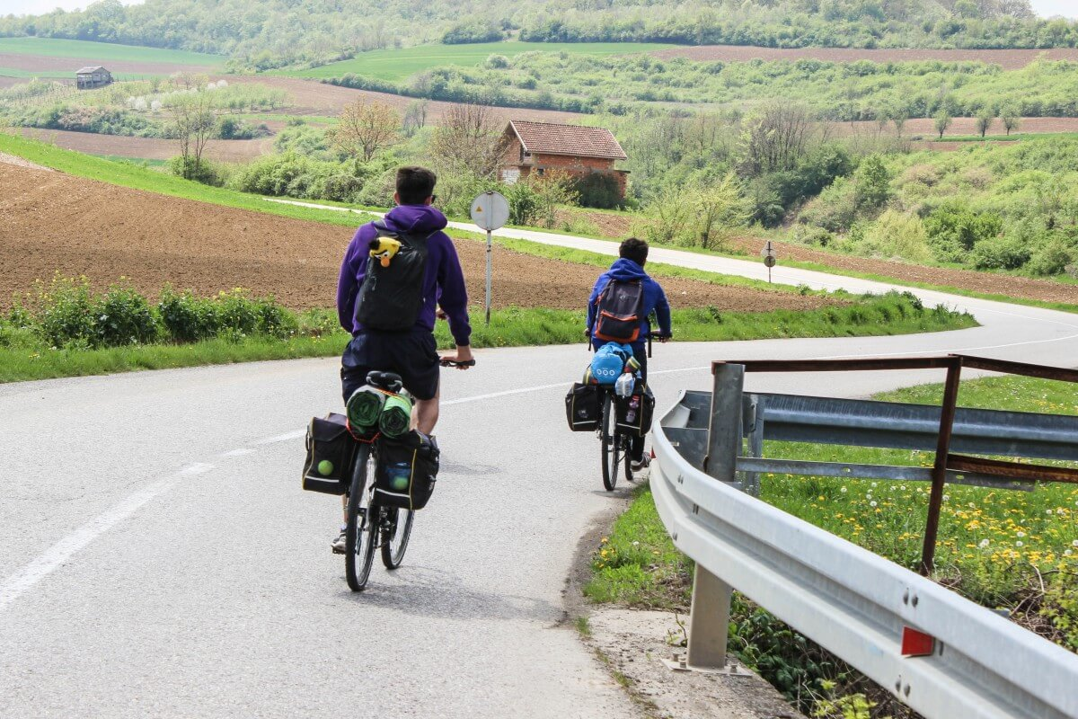 Cycling Serbia two cyclists