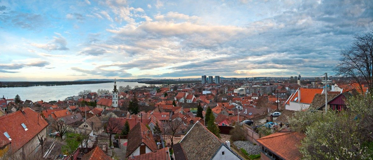 View on Zemun and Belgrade from Gardos