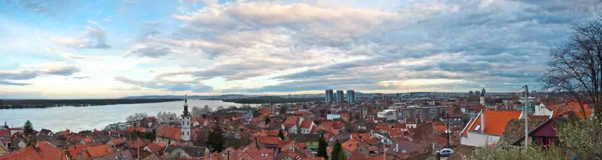 View on Belgrade and Zemun from Gardos
