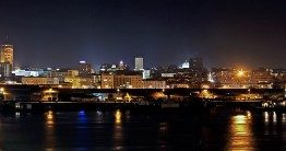 Belgrade at night. iBikeBelgrade. Photo by: Jovana Daljević
