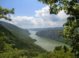 View on Danube from Djerdap in Serbia