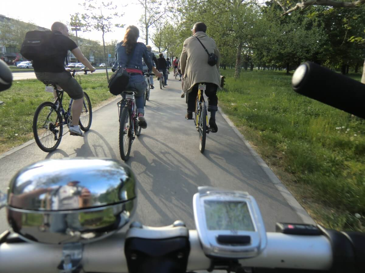 View from the bike, iBikeBelgrade