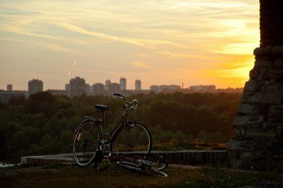 New Belgrade view bike Kalemegdan