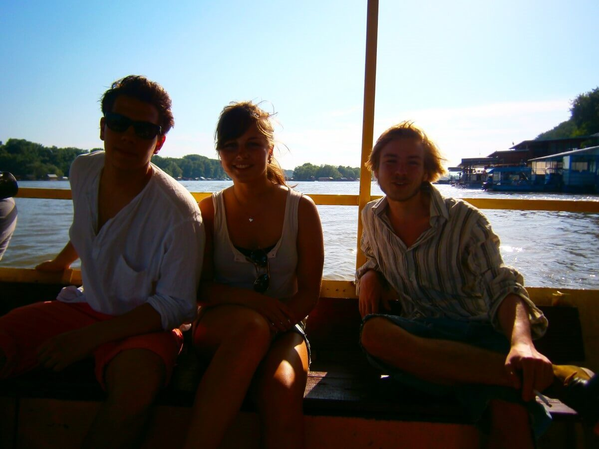Crossing the Sava river, catching that breeze!