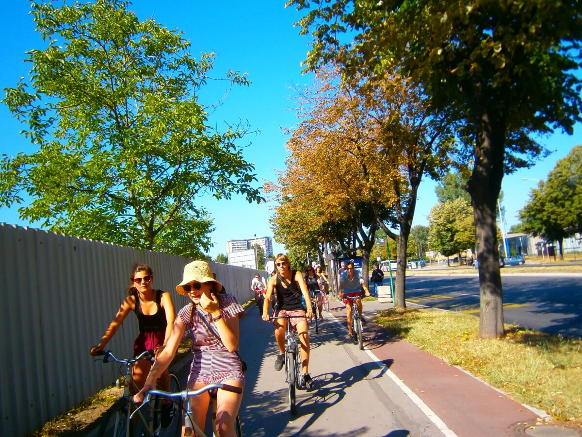 Sunny bike ride in New Belgrade / Novi Beograd