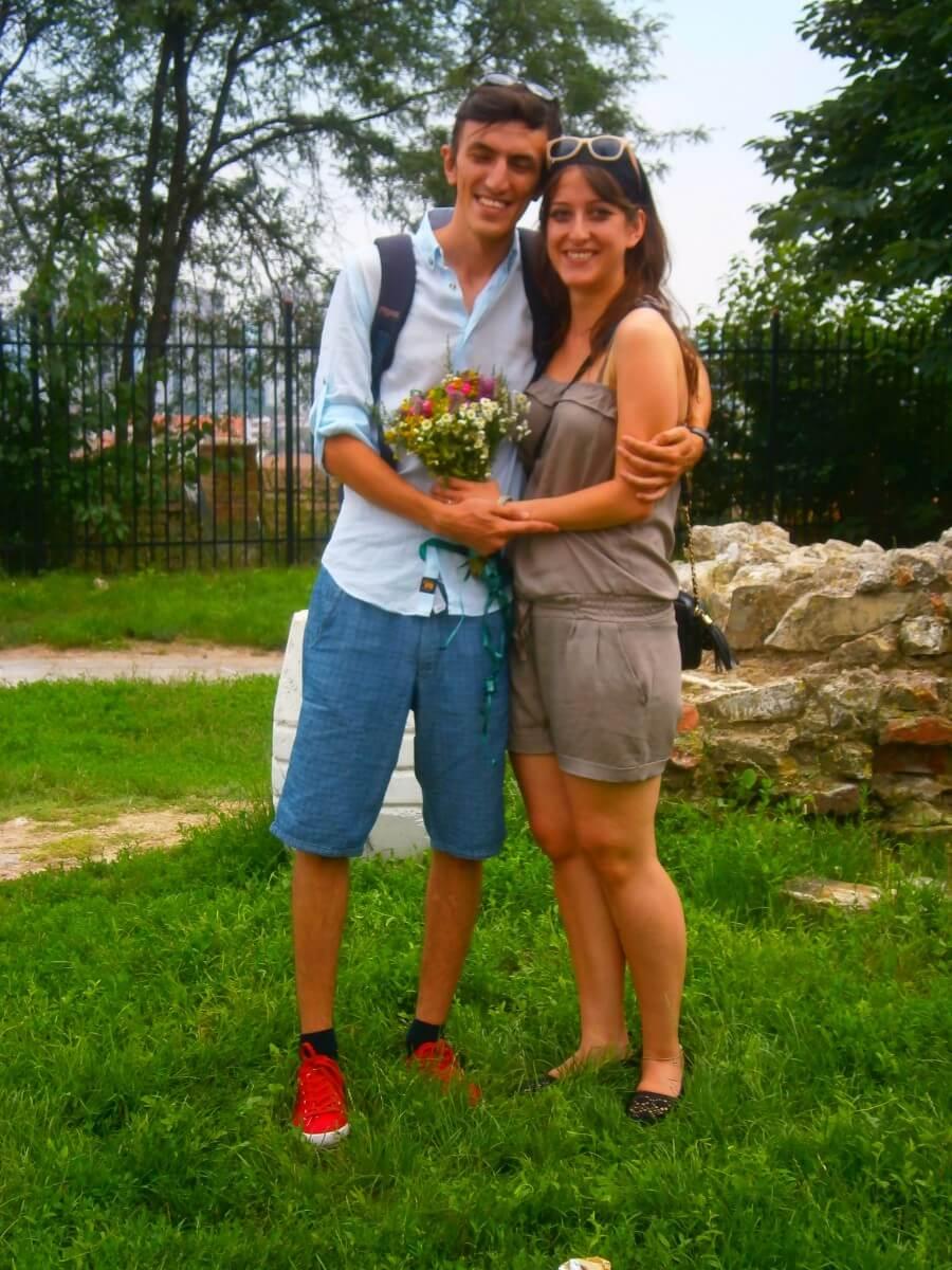 Turkish marriage proposal during our iBikeBelgrade bike tour on top of the Gardos Tower in Zemun