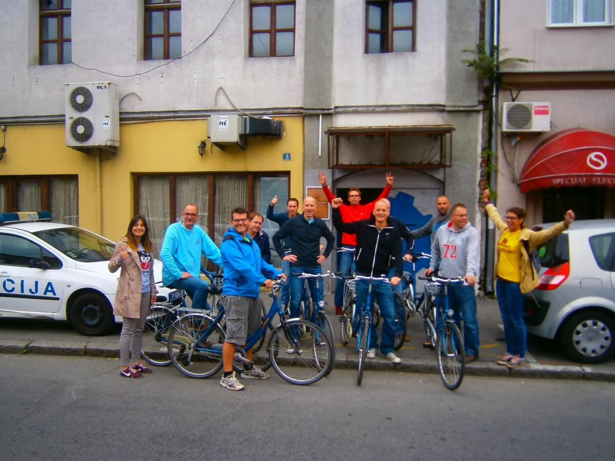 Dutch cyclists ready for the iBikeBelgrade tour