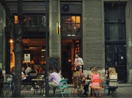 Bar cafe bookshop Meduza belgrade terrace